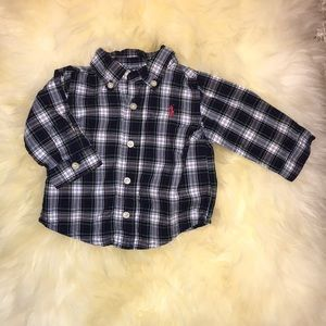 Boys plaid button down top